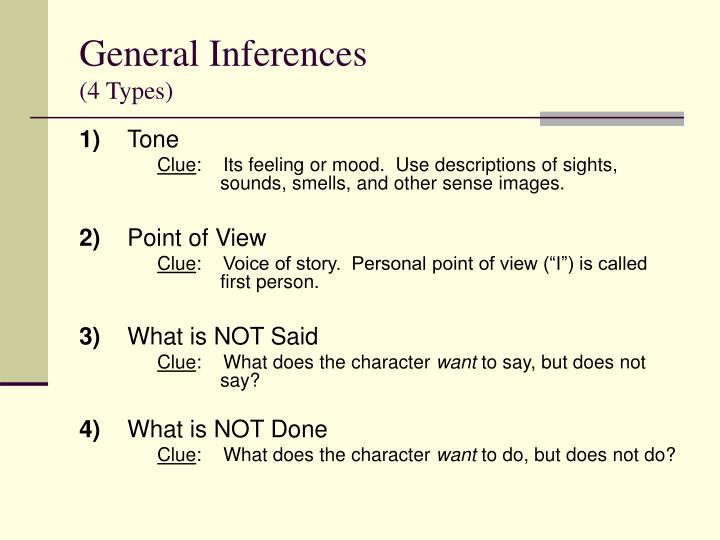 General Inferences