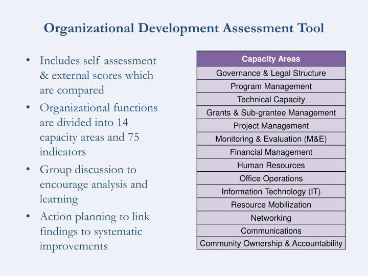 Organizational Development Assessment Tool