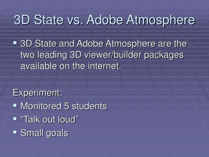 3D State vs. Adobe Atmosphere