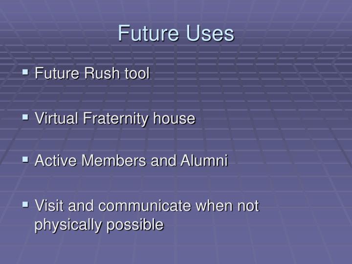 Future Uses