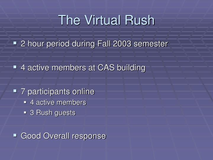 The Virtual Rush