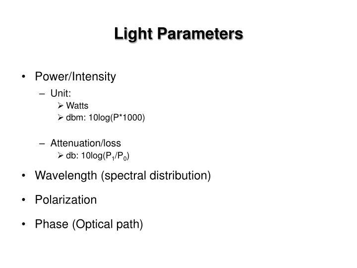 Light Parameters