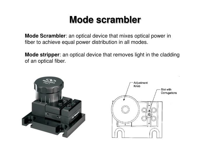 Mode scrambler