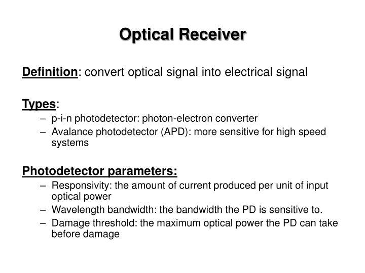 Optical Receiver
