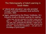 the historiography of adult learning in south wales3