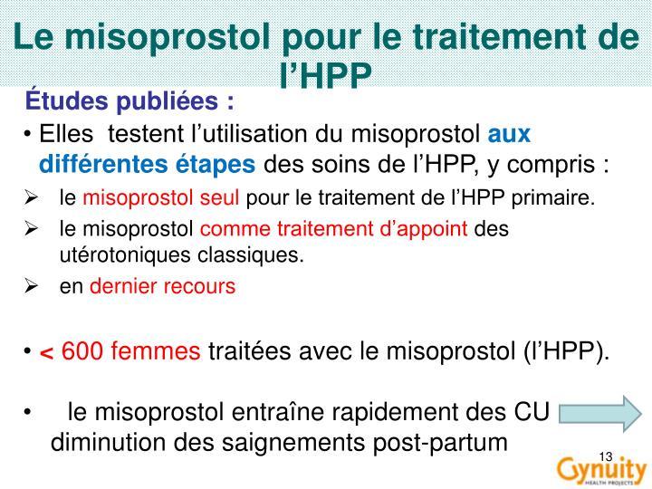 Le misoprostol pour le traitement de l'HPP