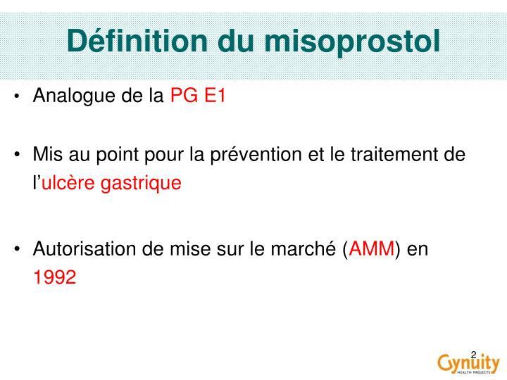 Définition du misoprostol