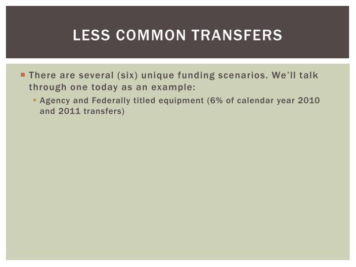 Less Common Transfers