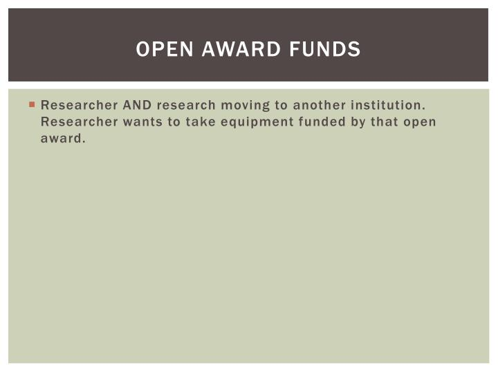 Open Award Funds