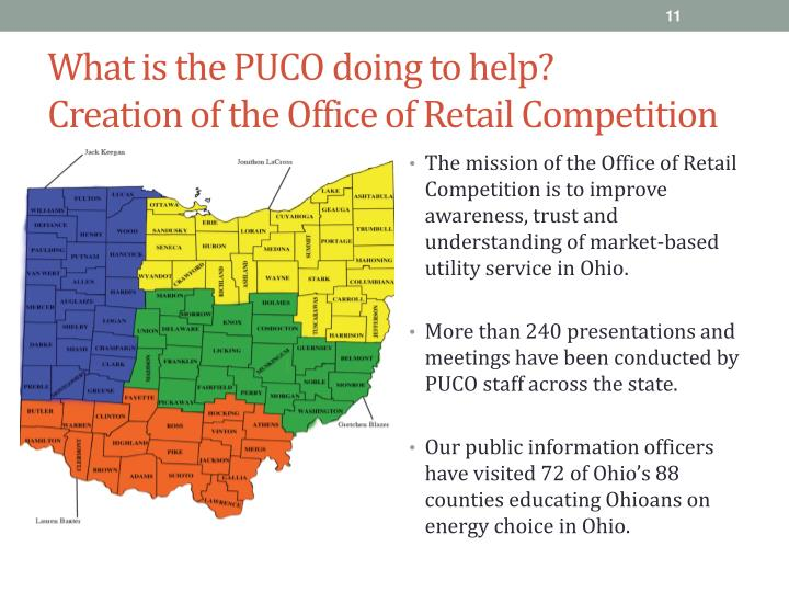 What is the PUCO doing to help?