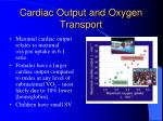 cardiac output and oxygen transport