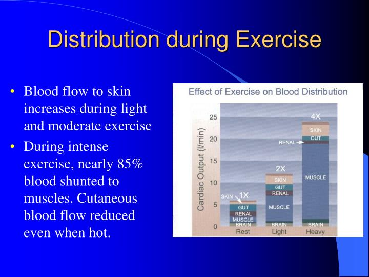 Distribution during Exercise