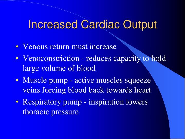 Increased Cardiac Output