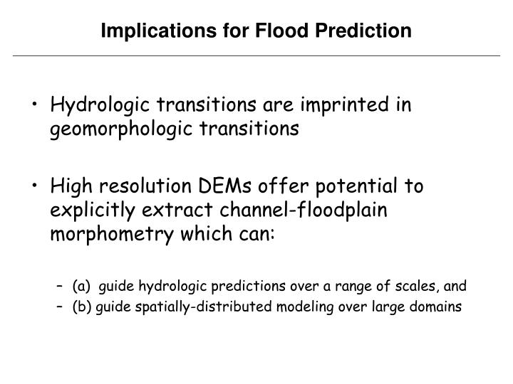 Hydrologic transitions are imprinted in geomorphologic transitions