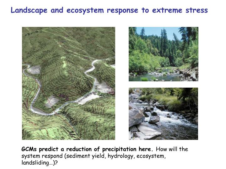 Landscape and ecosystem response to extreme stress