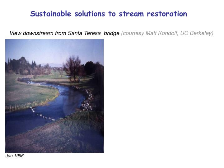 Sustainable solutions to stream restoration