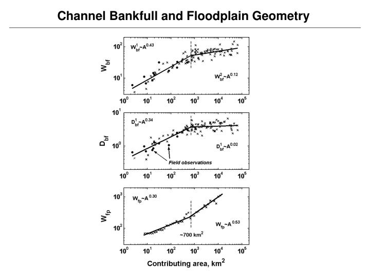 Channel Bankfull and Floodplain Geometry