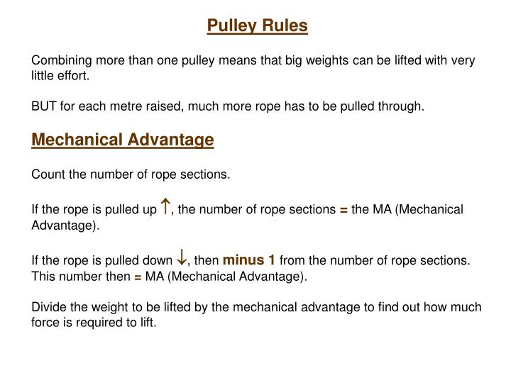 Pulley Rules