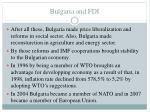 bulgaria and fdi11