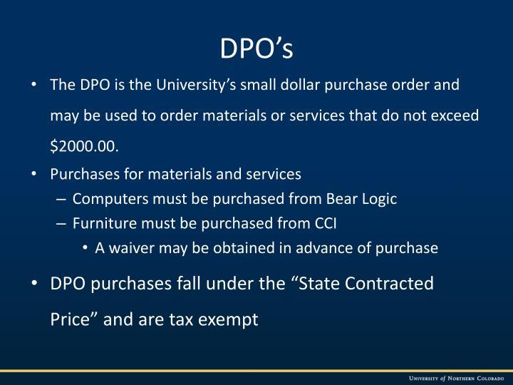 DPO's