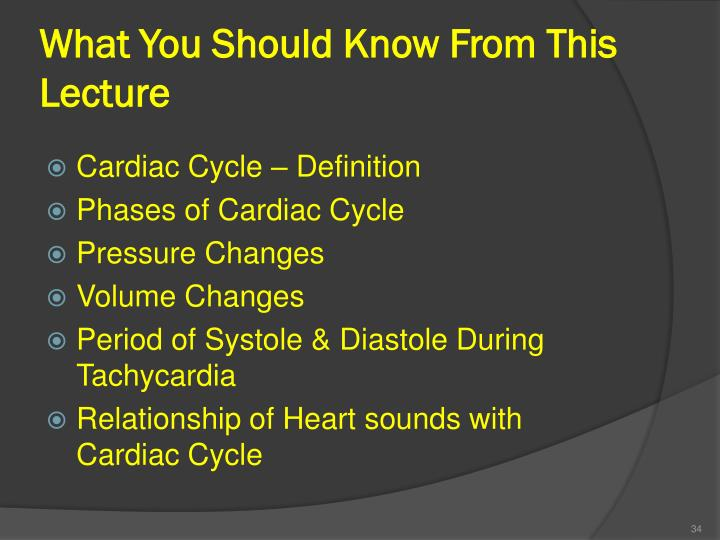 What You Should Know From This Lecture