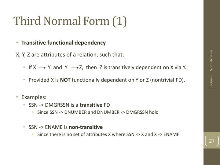 Third Normal Form (1)