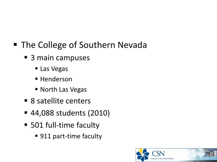The College of Southern Nevada