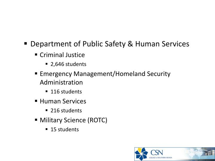 Department of Public Safety & Human Services
