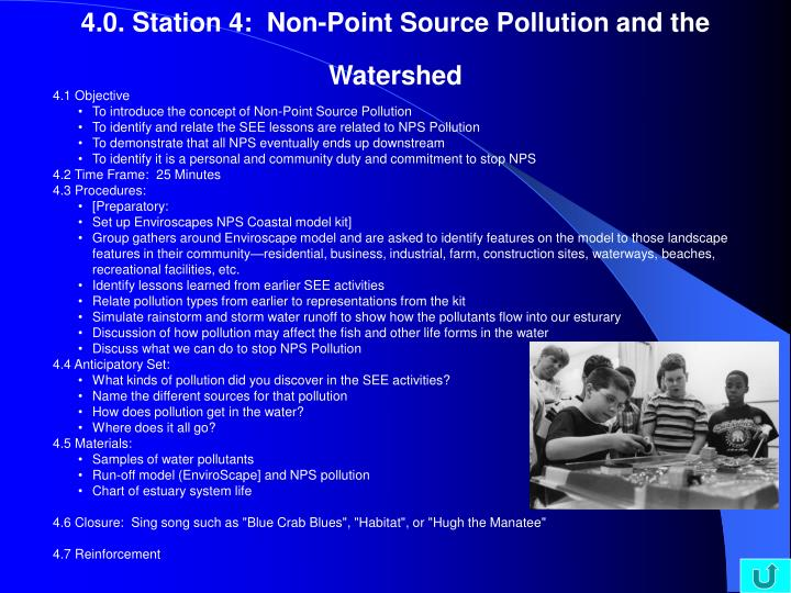 4.0. Station 4:  Non-Point Source Pollution and the Watershed