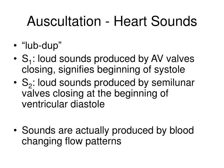 Auscultation - Heart Sounds