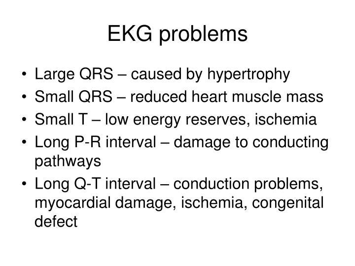 EKG problems