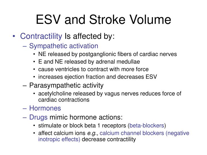 ESV and Stroke Volume