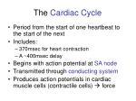 the cardiac cycle1