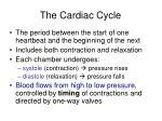 the cardiac cycle2