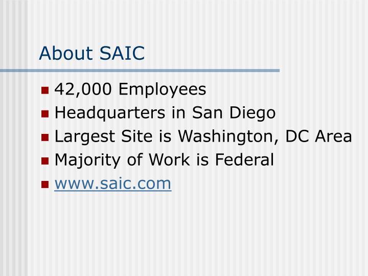 About SAIC