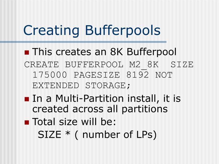 Creating Bufferpools