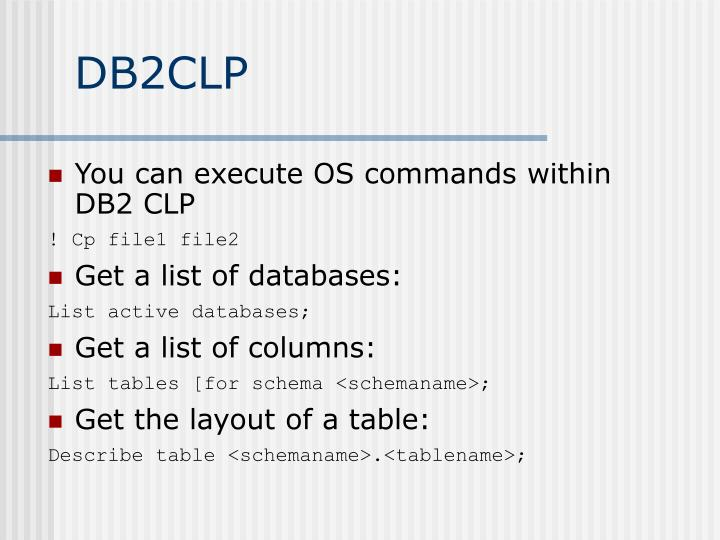 DB2CLP