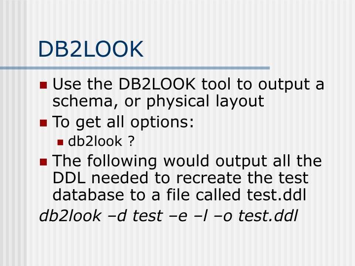 DB2LOOK