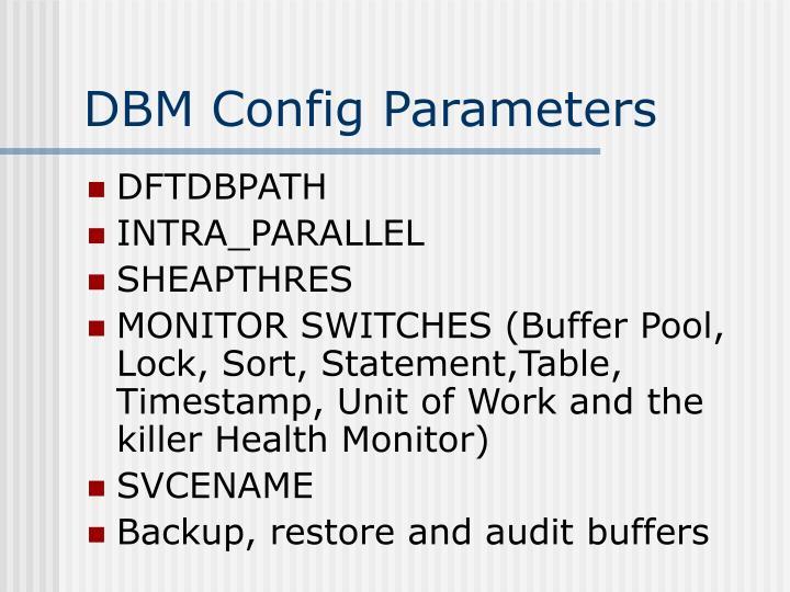 DBM Config Parameters
