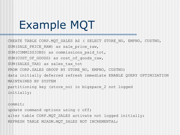 Example MQT