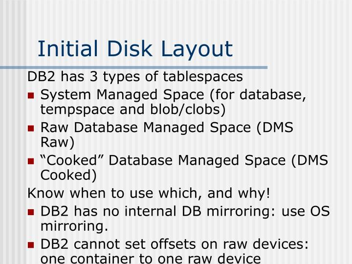 Initial Disk Layout