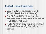 install db2 binaries