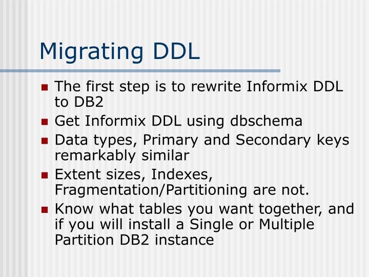 Migrating DDL