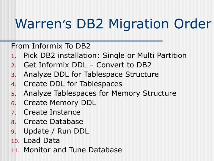 From Informix To DB2