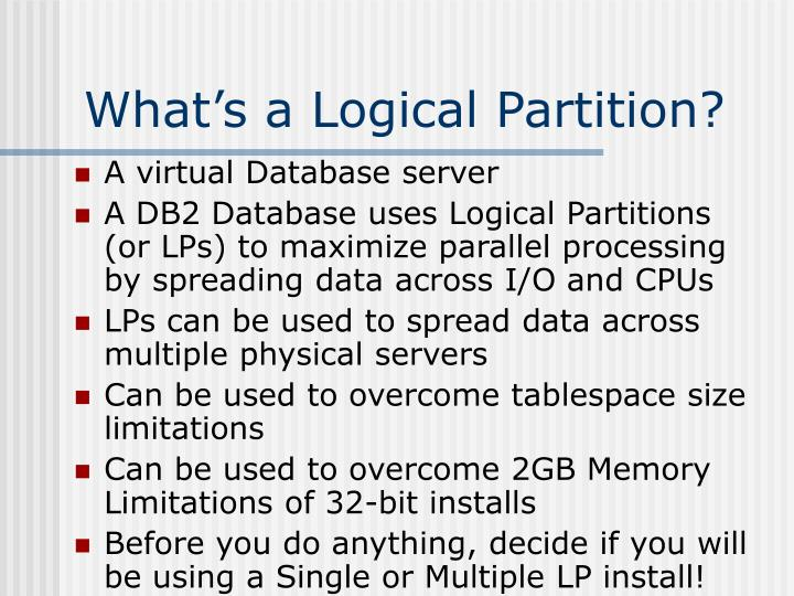 What's a Logical Partition?