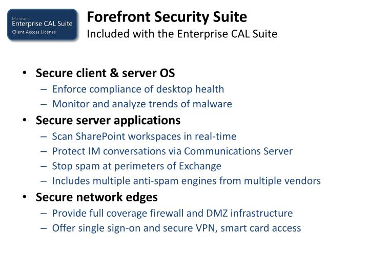 Forefront Security Suite