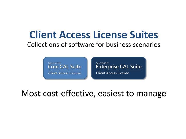 Client Access License Suites