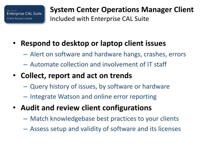 System Center Operations Manager Client