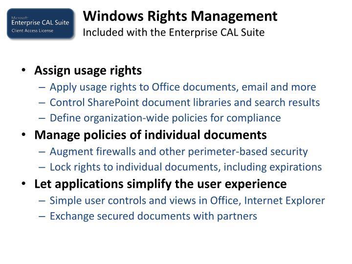 Windows Rights Management