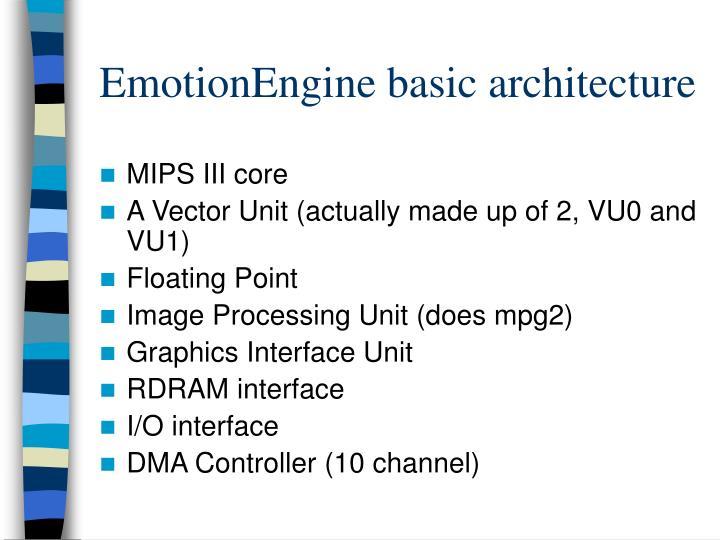 EmotionEngine basic architecture